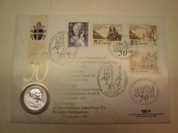 Numisbrief Vatikan - 50. Priesterjubiläum Papst Johannes Paul + 25 J. Pontifikat - Vatikan