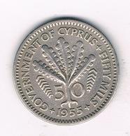 50 MILS 1955 CYPRUS /425/ - Chypre