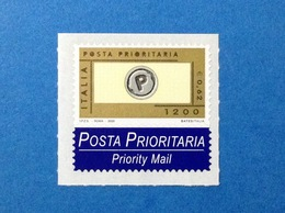 2000 ITALIA POSTA PRIORITARIA FRANCOBOLLO NUOVO ITALY STAMP NEW MNH** PRIORITARIO 1200 LIRE 0,62 EURO - 6. 1946-.. Republic