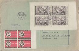 CSSR - Svabinsky Kleinbogen + Vignette Brno 1958 Brief Olmütz Lechbruck 1958 - Tschechoslowakei/CSSR