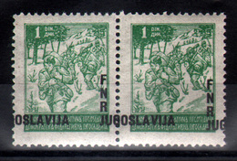2. Yugoslavia 1949 1d Partisans With Misplaced Overprint MNH - 1945-1992 Repubblica Socialista Federale Di Jugoslavia