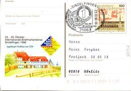 "BRD Amtl. GZS-Sonderpostkarte PSo 55 ""Int. BM-Börse Sindelfingen"" WSt ""Kloster Maulbronn"", SSt. 23.10.1998 SINDELFINGEN - [7] Federal Republic"