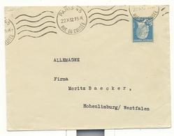 Pasteur , N° 181 Seul Du 22 10 1932 Oblitere Paris 45 Pour L'allemagne - Postmark Collection (Covers)