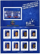 Ela Association Européenne Contre Les Leucodystrophies équipe De France Tous Avec Nous Et Ela Pour Gagner Du Terrain Con - Collectors