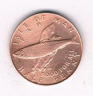 HALF NEW PENNY 1977 FAO  ISLE OF MAN /435/ - Regionale Währungen