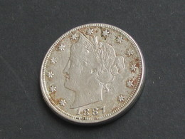RARE !!!    5 Cents - Five Cent 1887 Liberty - Etats-Unis - United States  **** EN ACHAT IMMEDIAT **** - Federal Issues