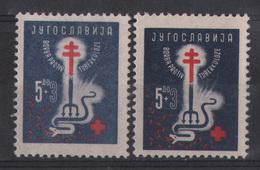 3. Yugoslavia 1948 Anti Tuberculosis Two Shades Varieties MNH - 1945-1992 Repubblica Socialista Federale Di Jugoslavia