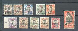 CANT 147 - YT 67 à 71 - 73 - 75 à 79 * - Canton (1901-1922)