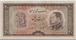 PERSIA P.  65 20 R 1954 VF - Iran