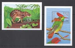 E767 GUYANA FLORA & FAUNA BIRDS WILD ANIMALS 2BL MNH - Birds
