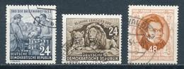 DDR 396 + 397 + 404 Gestempelt - [6] Repubblica Democratica