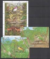 E769 GUYANA FLORA & FAUNA WILD ANIMALS BIRDS !!! 2BL+1KB MNH - Stamps