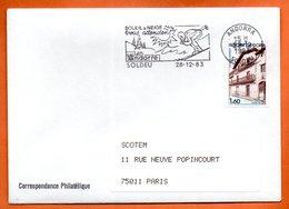 SOLDEU  SOLEIL & NEIGE 1983 Lettre Entière N° AB 192 - Andorra Francese