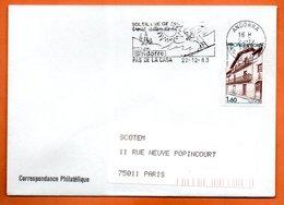 PAS DE LA CASA    SOLEIL & NEIGE 1983 Lettre Entière N° AB 193 - Andorra Francese