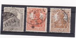 Deutsches Reich, Nr. 98/100, Gest. (T 13803) - Gebraucht