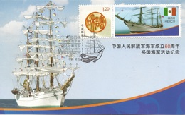 China Special Card 2009, Chinese PLA Navy Anniversary, Mexico Flag & Ship - 1949 - ... République Populaire
