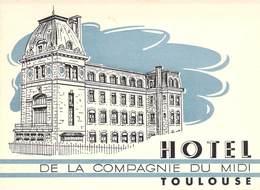 """CPA / CARTE DE VISITE FRANCE 31 """"Toulouse, Hotel De La Compagnie Du Midi"""" - Toulouse"""
