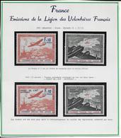 1941/42 - TIMBRES LVF CONTRE LE BOLCHEVISME Sur PLAQUETTE PRESENTATION CARTONNEE - YVERT N° 2/5 * / MH - COTE = 44 EUR. - Guerras