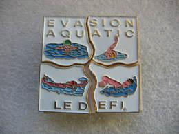 Pin's Puzzle De 4 Pieces: Evasion Aquatic, Le Défi - Zonder Classificatie