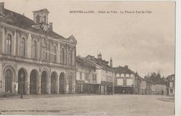 Cpa ( 52 Haute-marne ) Montier En Der , Hotel De Ville - La Place Et Rue De L'ile - Montier-en-Der