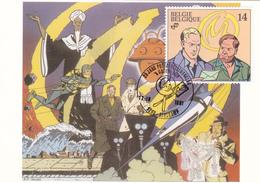 Carte Maximum  B.D. - Blake & Mortimer - Timbre N°2428 - FDC - 1991 - Oblitération Serskamp - Maximum Cards