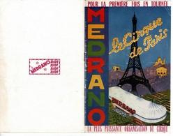 1956 Programme Du CIRQUE MEDRANO , LE CIRQUE DE PARIS Pour La 1ère Fois En Tournée Livret De 32 Pages - Programmes