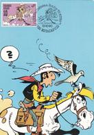 Carte Maximum  B.D. - Lucky Luke - Timbre N°2390  -  FDC 13/10/1990  - Oblitération Estaimpuis - Maximum Cards