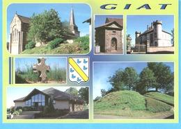 Giat (Combrailles-Puy De Dôme)-Multivues-Eglise-Château-Motte Castrale (Tumulus)-Croix ...Photo J.F.Pazyniak, Aubiat - France