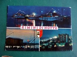 (FG.V16) RIMINI Di Notte - VEDUTE VEDUTINE (francobollo Rimosso) - Rimini