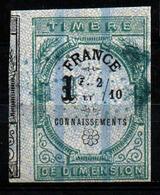 """France Fiscal - Connaissement N°5 Oblit. """"Chiffres D'Oudiné"""" - Fiscaux"""