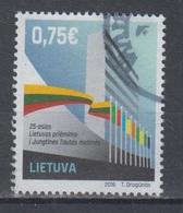Lithuania 2016 Mi 1224 Used UNO - Lituania