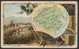 "Chromos - Chinese Empire : Picking Tea Leaves + Verso PUB ""Coffe Arbuckle Bros."" (New York) / Dim : 12,7 X 7,7cm - Tea & Coffee Manufacturers"