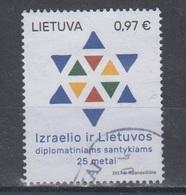 Lithuania 2017 Mi 1235 Used Israel Diplomatic Relations - Lituanie