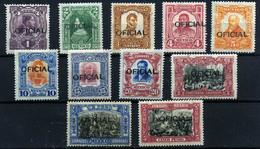 México (sevicios) Nº 43/53. Año 1911/17. - Mexico