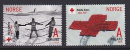 Norway 2015, Red Cross Minr 1874 And 1877 Vfu. Cv 5,60 Euro - Gebraucht