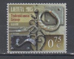 Lithuania 2015 Mi 1201 Used Traditional Forged Handicrafts - Lituania