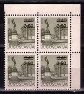 10. Yugoslavia 1981 3,50/3,40 Vranje Surcharge Variety 13 1/4X12 ½  MNH - Unused Stamps