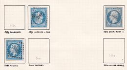 France - Lot De 3 Timbres Oblitération PC Du Département Du Var - 1849-1876: Periodo Classico