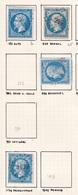 France - Lot De 4 Timbres Oblitération PC Du Département Du Var - 1849-1876: Periodo Classico
