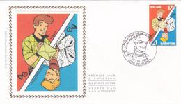 FDC Sur Soie/op Zijde -  B.D. - Ric Hochet - Timbre N°2785 -  FDC 1998 - Oblitération Charleroi - 1991-00