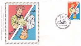 FDC Sur Soie/op Zijde -  B.D. - Ric Hochet - Timbre N°2785 -  FDC 1998 - Oblitération Kappelle Op Den Bos - 1991-00
