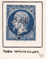 France - PC 3686 - Walincourt - Nord - 1849-1876: Période Classique