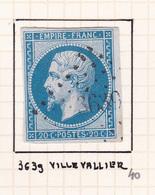 France - PC 3639 - Villevallier - Yonne - 1849-1876: Période Classique
