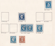 France - Lot De 7 Timbres Du Département De La Seine - 1849-1876: Période Classique