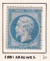 France - PC 2881 - Sergines - Yonne - 1849-1876: Période Classique