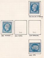 France - Lot De 3 Timbres Du Département De L'Orne - 1849-1876: Période Classique