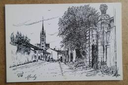 MARLY - L'Eglise - Illustrateur C.Roux - Carte Double ( 57 Moselle ) - Altri Comuni