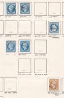 France - Lot De 6 Timbres Du Département De La Haute-Saône - 1849-1876: Période Classique