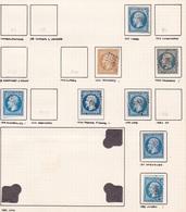 France - Lot De 8 Timbres Du Département De La Haute-Saône - 1849-1876: Période Classique