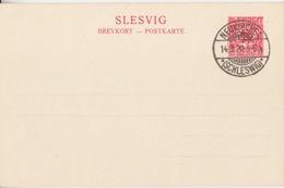 Entier Neuf Du Schlechwig-Holstein 10pf Rouge (Plebiscit Slesvig) Obl. Neukirche *(Schleswig)* Le 14/3/20 Date Du Plébi - Alemania